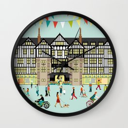 Art Print of Liberty of London Store - Daytime Wall Clock