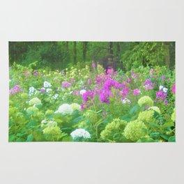 Annabella Hydrangeas and Purple Garden Landscape Rug
