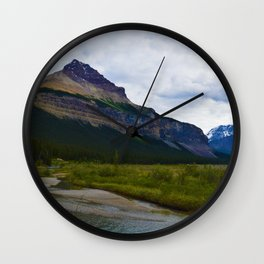 Tangle Ridge in the Columbia Icefields area of Jasper National Park, Canada Wall Clock