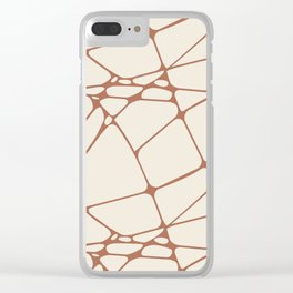 Cavern Clay SW 7701 Abstract Mosaic Pattern 1 on Creamy Off White SW7012 Clear iPhone Case