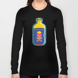 psychedelic poison bottle Long Sleeve T-shirt