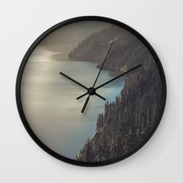 First Light at the Lake II Wall Clock