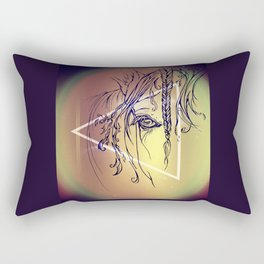 Delicate: Triangled Rectangular Pillow