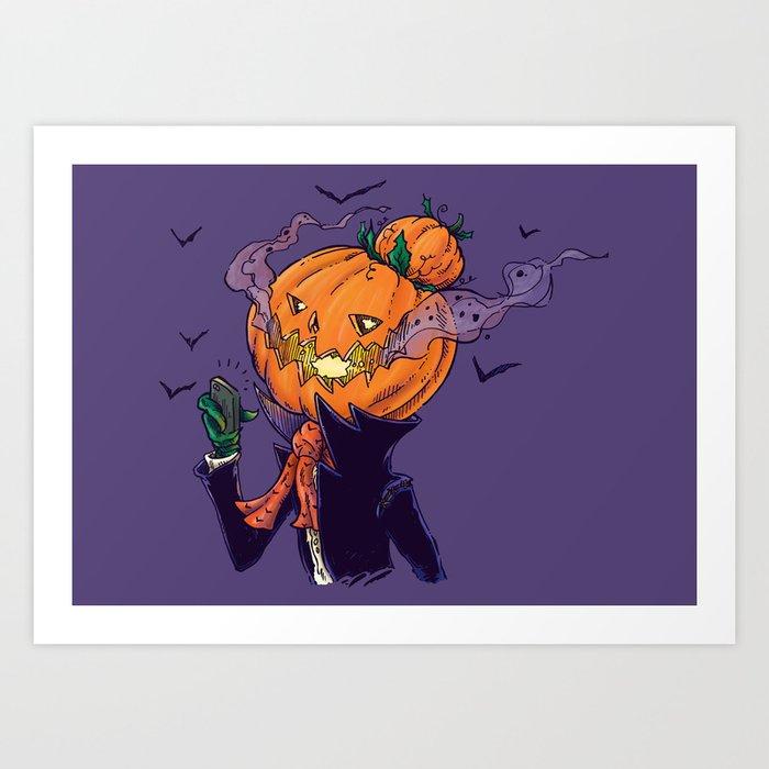 The Pumpkin Bun Art Print