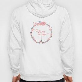 La Vie en rose Typography Hoody