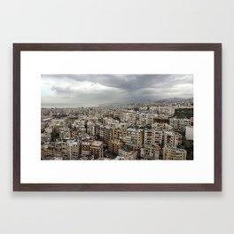 Floating over Beirut Framed Art Print