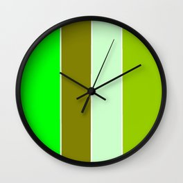 just four colors 1: green Wall Clock