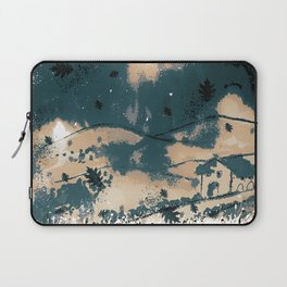 Autumn landscape with house and leaves Laptop Sleeve