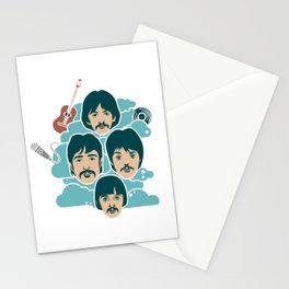 the music illustration Stationery Cards
