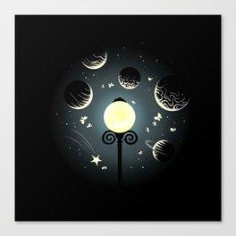 A little night universe Canvas Print