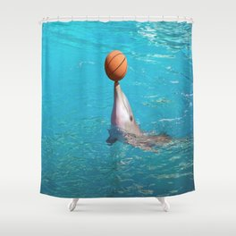 Dolphin and Ball Shower Curtain