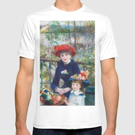 Two Sisters (On the Terrace) (1881) by Pierre-Auguste Renoir T-shirt