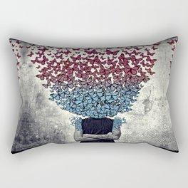 Butterflies In my head. Rectangular Pillow