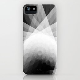 A Receptive Mind is Connected BLK/WHT iPhone Case