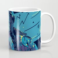 terminator Mugs featuring The Terminator // Evil Villians by mergedvisible