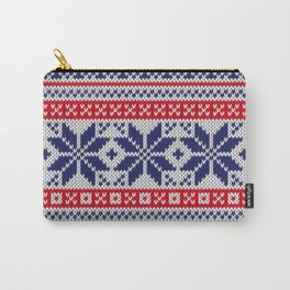 Winter knitted pattern 7 Carry-All Pouch