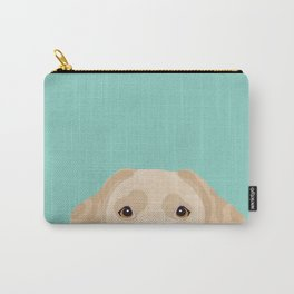 Yellow Lab dog portrait labrador retriever dog art pet friendly Carry-All Pouch