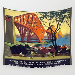 Vintage poster - Forth Bridge Wall Tapestry