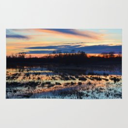 Contrasting Pastel Sunset Rug