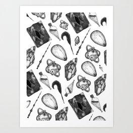 hp artifacts pattern Art Print