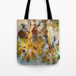 Palm Trees in Pond Tote Bag