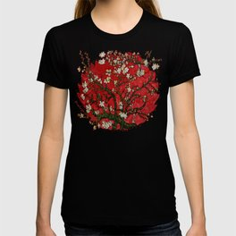 Abstract Daisy With Red Background T-shirt