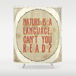 Nature is a Language: The Smiths Lyrics Shower Curtain