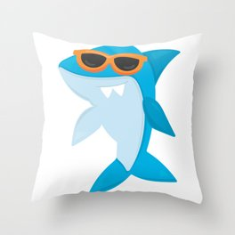 Friendly Sharks Sunglasses Shark Throw Pillow