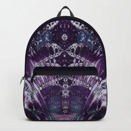 Purple Fractal Tie Dye Tie Dye Backpack