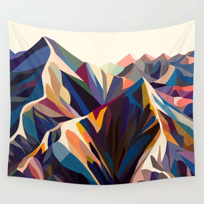 Mountains original Wandbehang