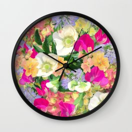 English Country Garden Wall Clock