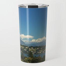Mont-Blanc and Leman lake Travel Mug
