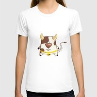 cow T-shirts featuring Cow by jebirvoki