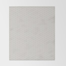 Hexagon Light Gray Pattern Throw Blanket