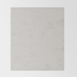 Hexagon Light Gray Pattern Throw Blanket