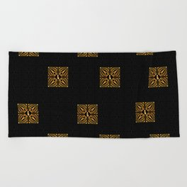 GOLD EIFFEL WEIMARANER 2 Beach Towel