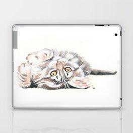 Cute Maine Coon Kitten Playing Laptop & iPad Skin