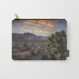Fiery Clouds Over Red Rock Carry-All Pouch