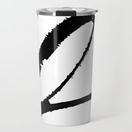 Letter Q Ink Monogram Travel Mug