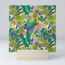 Simple drawing of abstract jungle Mini Art Print