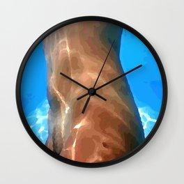 In water, womans body beauty Wall Clock