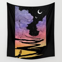 techno Wall Tapestries featuring Techno Colour Desert Nomad by Alex Moon