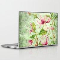 magnolia Laptop & iPad Skins featuring Magnolia by CatDesignz