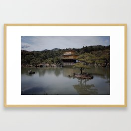 Japan Kyoto Golden Temple Pavilion Kinkaku-ji Framed Art Print