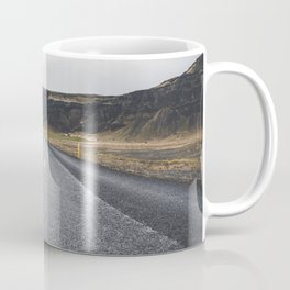 Icelandic Road to Mountains, Landscape Wilderness Adventure Highway Coffee Mug