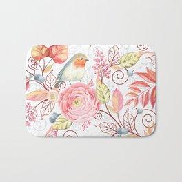 Little Robin Floral & Leaf Bath Mat