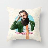 montana Throw Pillows featuring Mr. Montana by keith p. rein