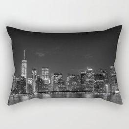 Downtown Manhattan Staten Island Ferry Rectangular Pillow