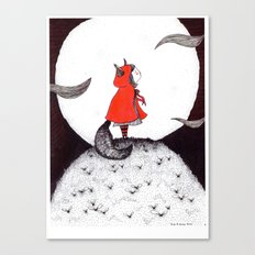 Red Riding Howl Canvas Print