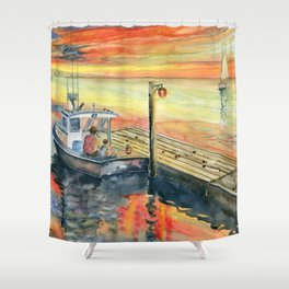 A Delightful Evening Shower Curtain